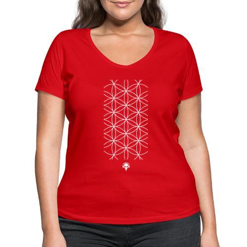 Deritorisada - Die Blume des Anfangs - Frauen Bio-T-Shirt mit V-Ausschnitt von Stanley & Stella