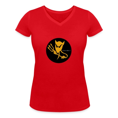 ElectroDevil T Shirt - Women's Organic V-Neck T-Shirt by Stanley & Stella