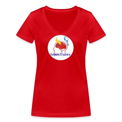 Fulmin Record - T-shirt ecologica da donna con scollo a V di Stanley & Stella