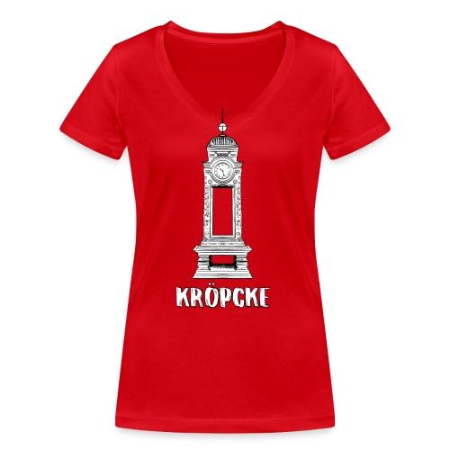 Hannover Kröpcke Uhr - Frauen Bio-T-Shirt mit V-Ausschnitt von Stanley & Stella