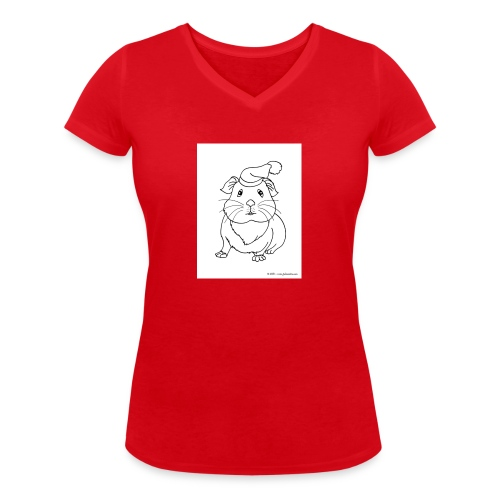 Hamster petite souris blanche guinea - T-shirt bio col V Stanley & Stella Femme