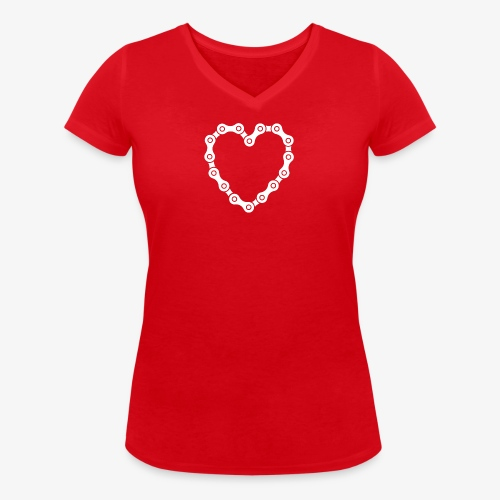 bike love - Women's Organic V-Neck T-Shirt by Stanley & Stella
