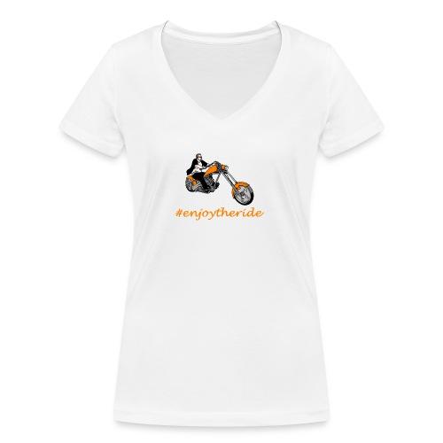enjoytheride - T-shirt bio col V Stanley & Stella Femme
