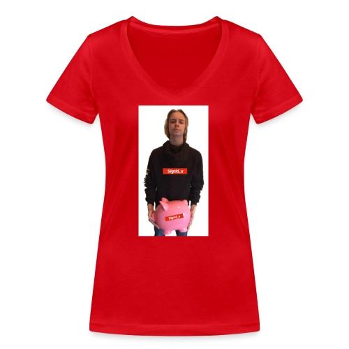 Sigrid_uPhotoTee - Økologisk T-skjorte med V-hals for kvinner fra Stanley & Stella