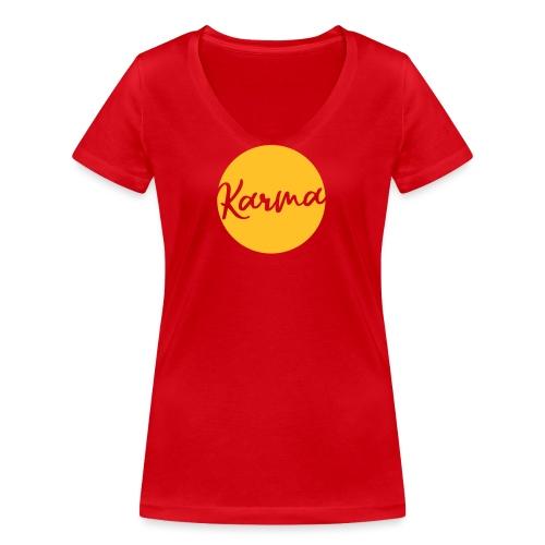 Karma - Frauen Bio-T-Shirt mit V-Ausschnitt von Stanley & Stella