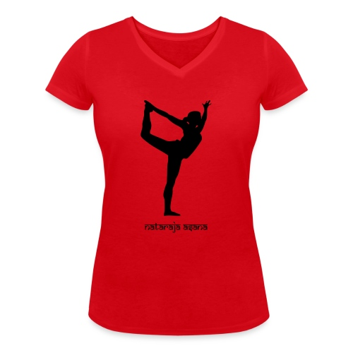 Yoga Nataraja Asana - Frauen Bio-T-Shirt mit V-Ausschnitt von Stanley & Stella