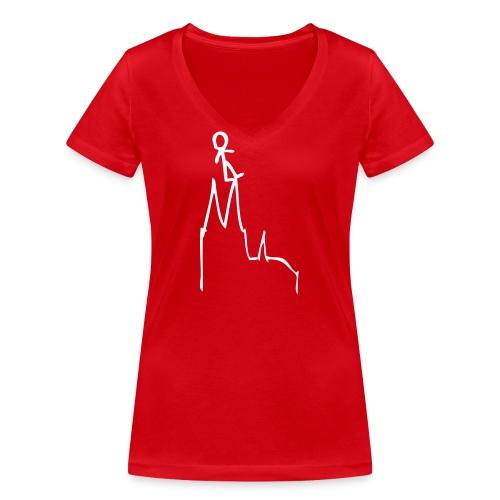WeLikeItOnTopOfCologne1 - Frauen Bio-T-Shirt mit V-Ausschnitt von Stanley & Stella