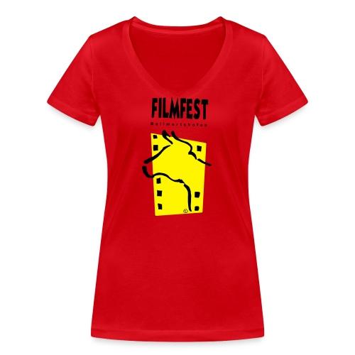 Filmfest Logo - Frauen Bio-T-Shirt mit V-Ausschnitt von Stanley & Stella