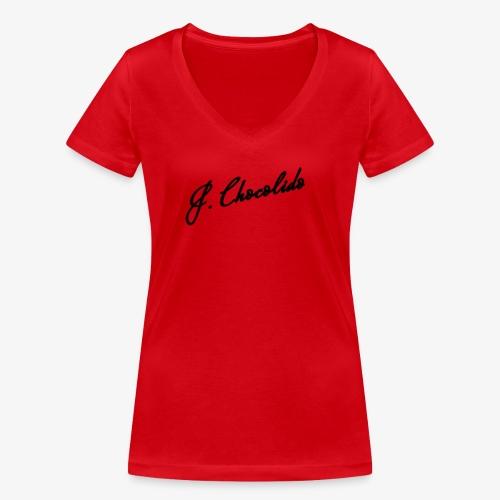 j chocolido logo - Women's Organic V-Neck T-Shirt by Stanley & Stella