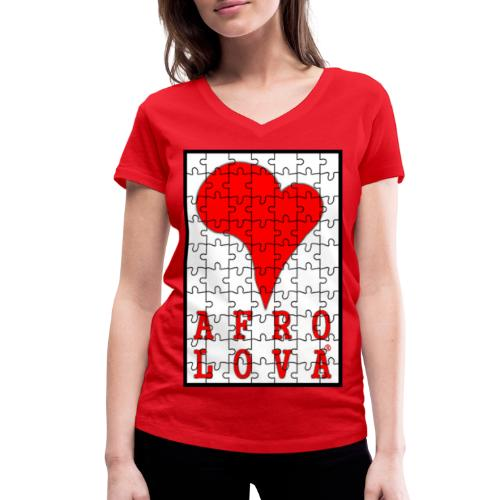puzzle Afro Lova - T-shirt bio col V Stanley & Stella Femme