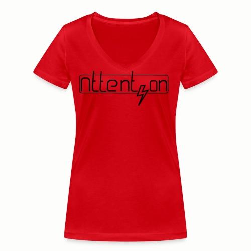 attention - Vrouwen bio T-shirt met V-hals van Stanley & Stella