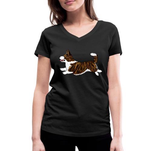 Welshcorgi7 - Stanley & Stellan naisten v-aukkoinen luomu-T-paita
