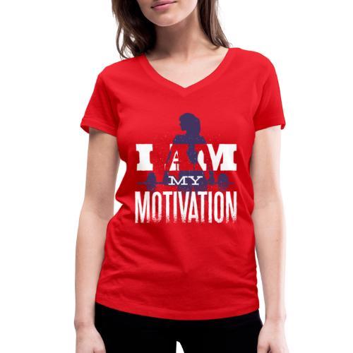 Motivation. - Frauen Bio-T-Shirt mit V-Ausschnitt von Stanley & Stella