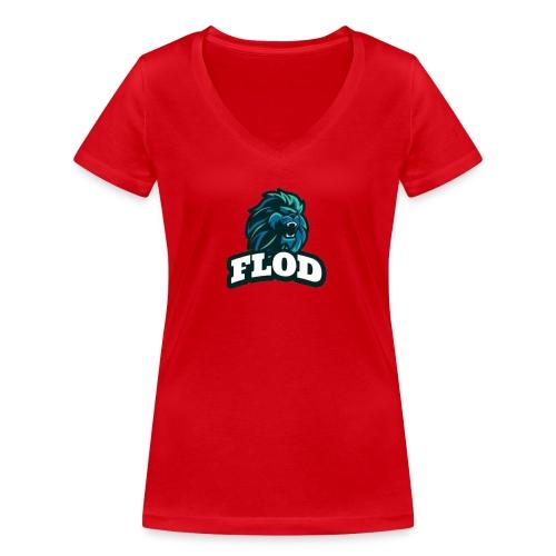 Mijn FloD logo - Vrouwen bio T-shirt met V-hals van Stanley & Stella