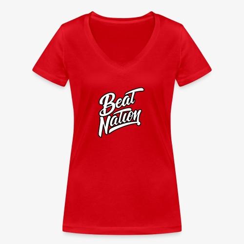 Logo Officiel Beat Nation Blanc - Frauen Bio-T-Shirt mit V-Ausschnitt von Stanley & Stella