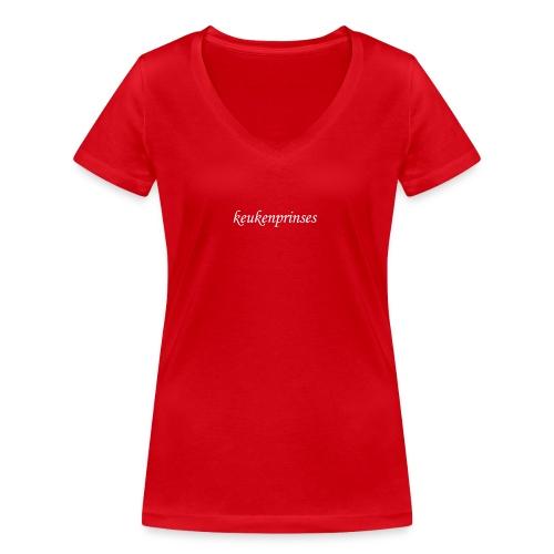 Keukenprinses1 - Vrouwen bio T-shirt met V-hals van Stanley & Stella