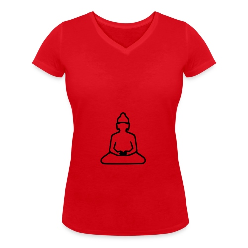 buddha 37984 960 720 png - Women's Organic V-Neck T-Shirt by Stanley & Stella