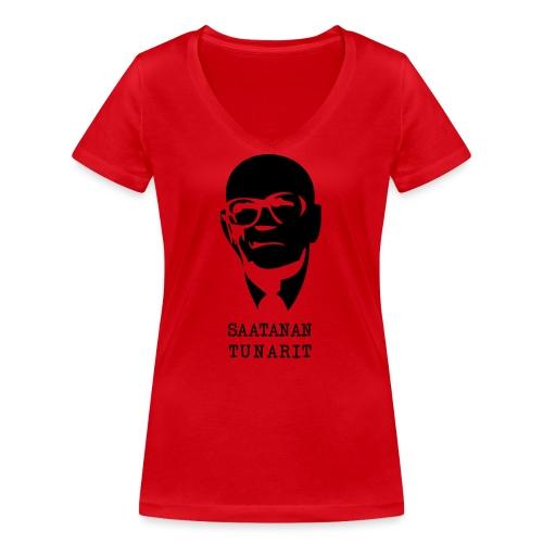 Kekkonen saatanan tunarit - Stanley & Stellan naisten v-aukkoinen luomu-T-paita