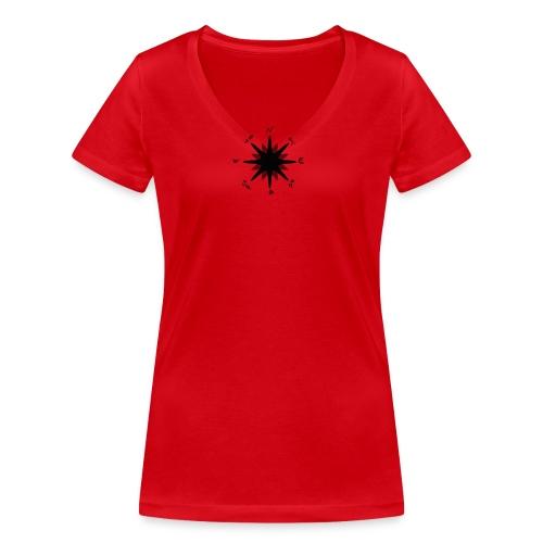 Compass bussola - T-shirt ecologica da donna con scollo a V di Stanley & Stella