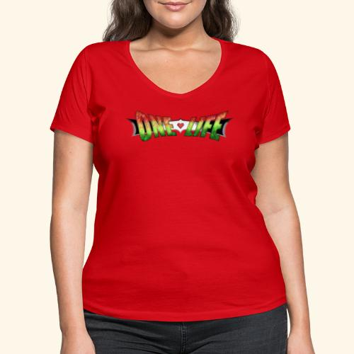 PS One Life - Women's Organic V-Neck T-Shirt by Stanley & Stella