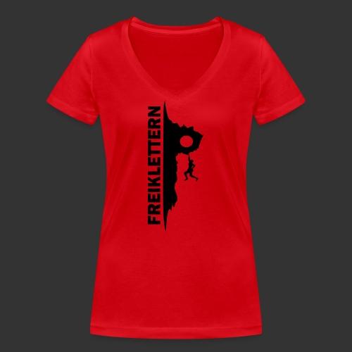 Freiklettern - Frauen Bio-T-Shirt mit V-Ausschnitt von Stanley & Stella
