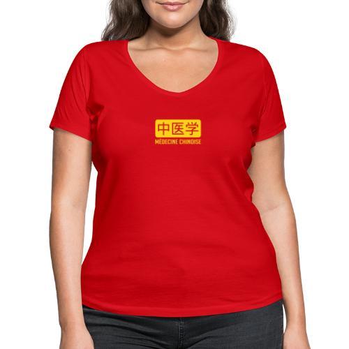 Médecine chinoise - T-shirt bio col V Stanley & Stella Femme