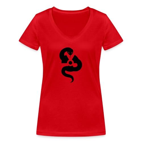 Nucl3arsnake - Women's Organic V-Neck T-Shirt by Stanley & Stella