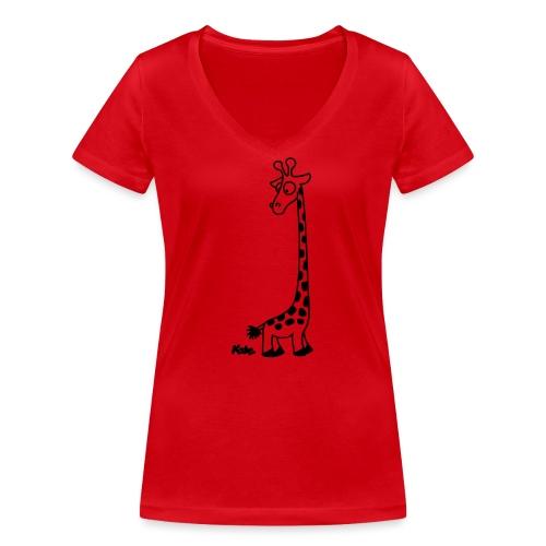 Giraffe - Frauen Bio-T-Shirt mit V-Ausschnitt von Stanley & Stella