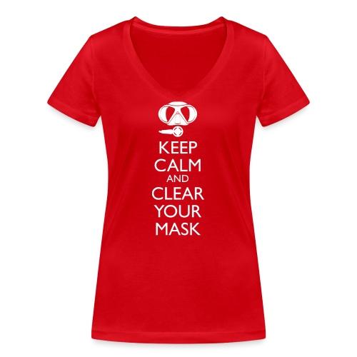 Keep Calm and clear your Mask Männer Tank Top - Frauen Bio-T-Shirt mit V-Ausschnitt von Stanley & Stella