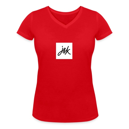 J K - Women's Organic V-Neck T-Shirt by Stanley & Stella