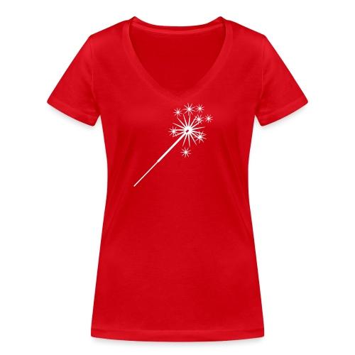 wunderkerze - Frauen Bio-T-Shirt mit V-Ausschnitt von Stanley & Stella