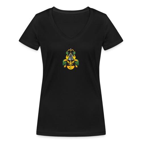 vaakuna, iso - Stanley & Stellan naisten v-aukkoinen luomu-T-paita