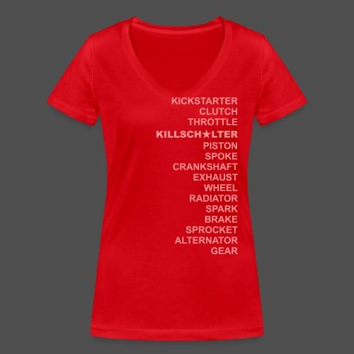 dwa RD - Ekologiczna koszulka damska z dekoltem w serek Stanley & Stella