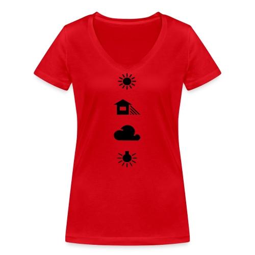Weissabgleich - Frauen Bio-T-Shirt mit V-Ausschnitt von Stanley & Stella
