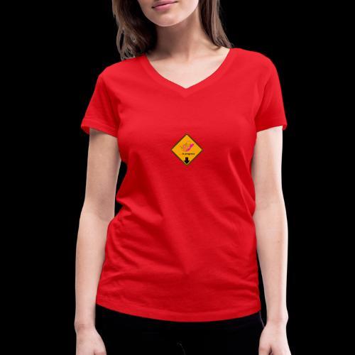 BABY IN PROGRESS - Frauen Bio-T-Shirt mit V-Ausschnitt von Stanley & Stella