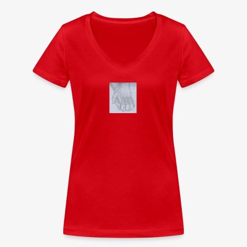 main dans la main - T-shirt bio col V Stanley & Stella Femme