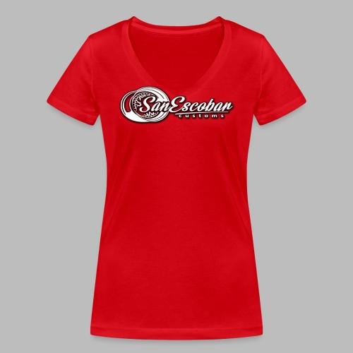 San Escobar Customs - Ekologiczna koszulka damska z dekoltem w serek Stanley & Stella