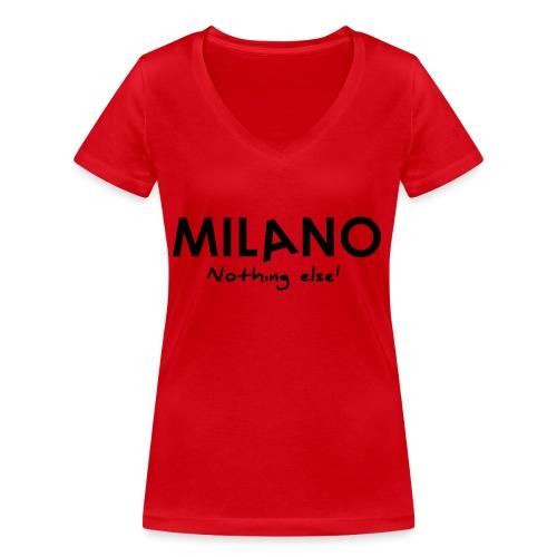 milano nothing else - T-shirt ecologica da donna con scollo a V di Stanley & Stella