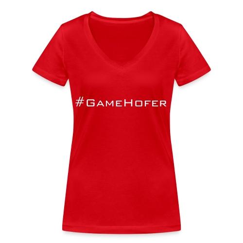 GameHofer T-Shirt - Women's Organic V-Neck T-Shirt by Stanley & Stella