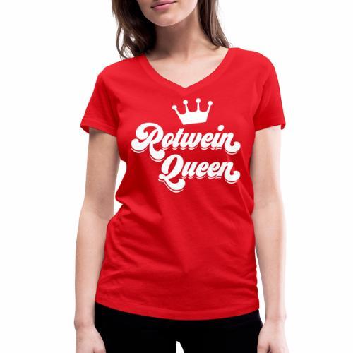Rotwein Queen - Frauen Bio-T-Shirt mit V-Ausschnitt von Stanley & Stella