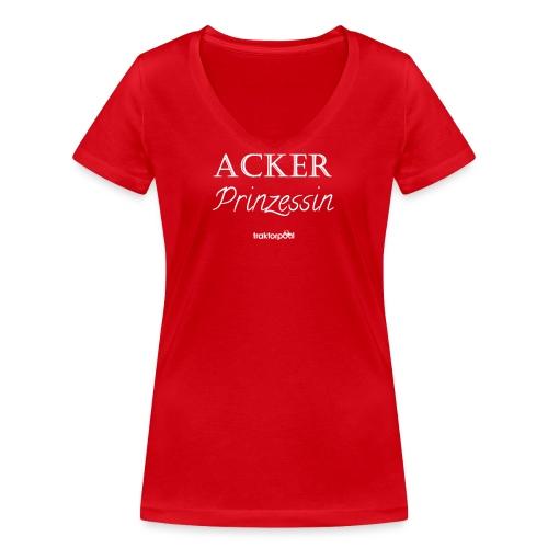 Ackerprinzessin - Frauen Bio-T-Shirt mit V-Ausschnitt von Stanley & Stella
