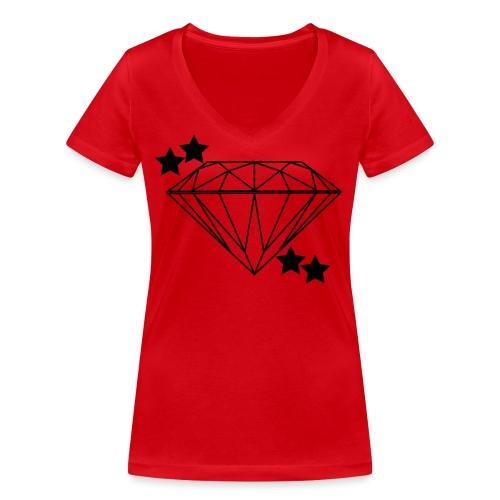 Diamant - Frauen Bio-T-Shirt mit V-Ausschnitt von Stanley & Stella
