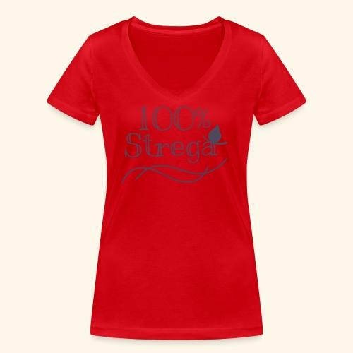 100% Strega - T-shirt ecologica da donna con scollo a V di Stanley & Stella