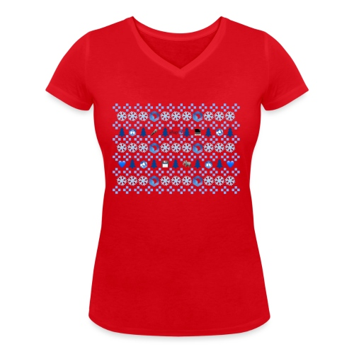 Collection hivernale Ugly Sweater version AFUP - T-shirt bio col V Stanley & Stella Femme