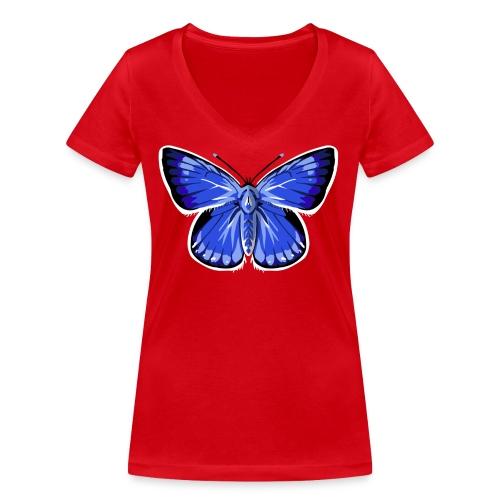 vlinder2_d - Vrouwen bio T-shirt met V-hals van Stanley & Stella
