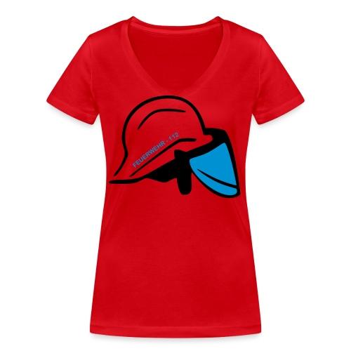 Feuerwehr Helm - Frauen Bio-T-Shirt mit V-Ausschnitt von Stanley & Stella