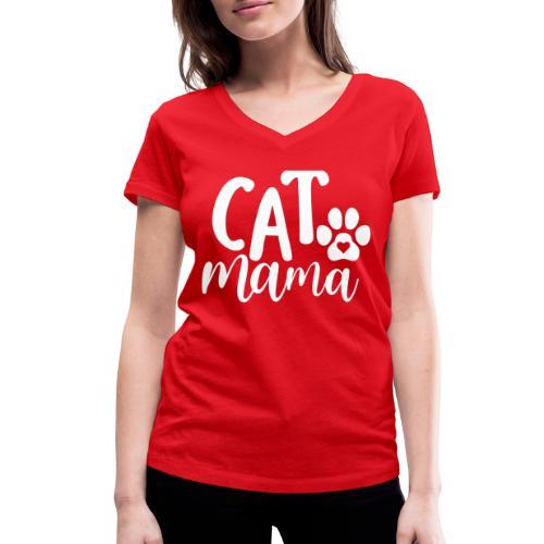 CAT MAMA - T-shirt bio col V Stanley & Stella Femme