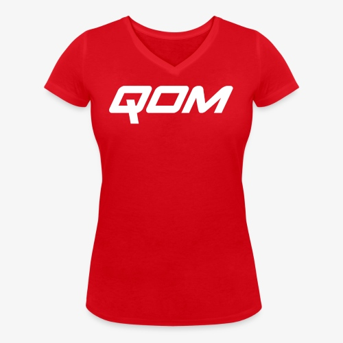 queen of the mountain mtb - Women's Organic V-Neck T-Shirt by Stanley & Stella