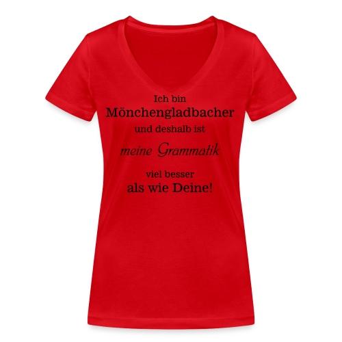 Gladbacher Grammatik - Frauen Bio-T-Shirt mit V-Ausschnitt von Stanley & Stella