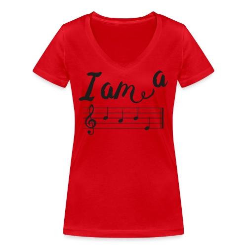 ImABabe - Vrouwen bio T-shirt met V-hals van Stanley & Stella